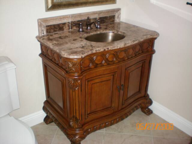 Photo: Bathroom sink remodel/plumbing work