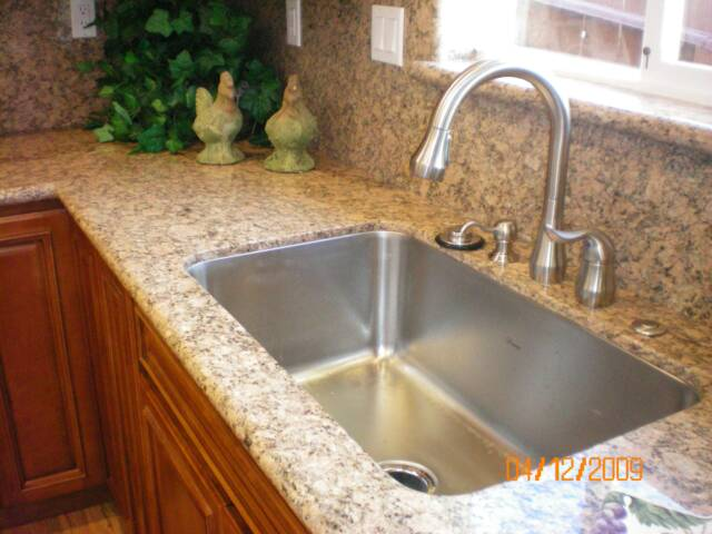 Photo: Kitchen sink and countertop remodel, kitchen plumbing - East Bay Plumber